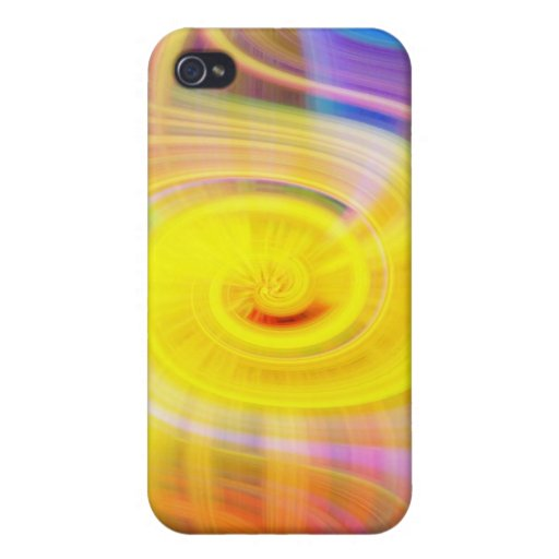 Caja espiral amarilla de la mota del iPhone 4 iPhone 4 Funda
