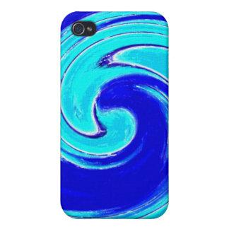 Caja espiral azul del iPhone iPhone 4 Carcasas