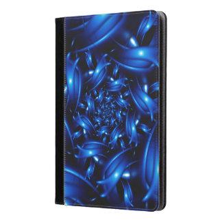 Caja espiral azul eléctrica brillante del aire del