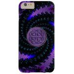 Caja espiral céltica púrpura del iPhone 6 del Funda De iPhone 6 Plus Barely There