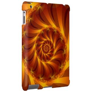 Caja espiral de oro del iPad del fractal