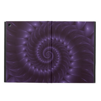 Caja espiral púrpura del aire del iPad del fractal