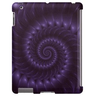 Caja espiral púrpura del iPad del fractal