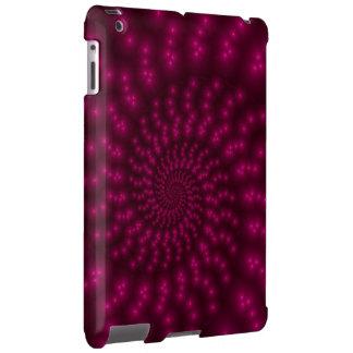 Caja espiral rosada magenta del iPad del fractal