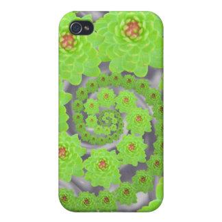Caja espiral verde del iPhone de la danza iPhone 4 Protector