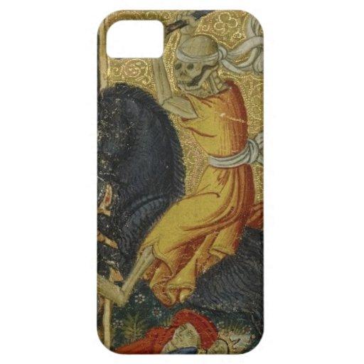 Caja esquelética del teléfono del arte del vintage funda para iPhone 5 barely there