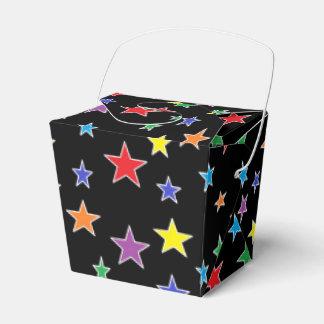 Caja estrellada del favor de la noche estrellada cajas para regalos de fiestas