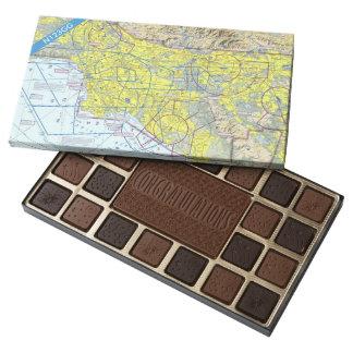 Caja experimental de encargo de la enhorabuena de caja de bombones variados con 45 piezas