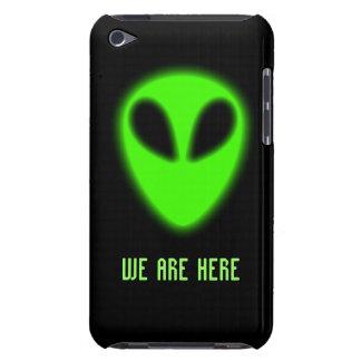 Caja extranjera verde que brilla intensamente iPod touch Case-Mate fundas