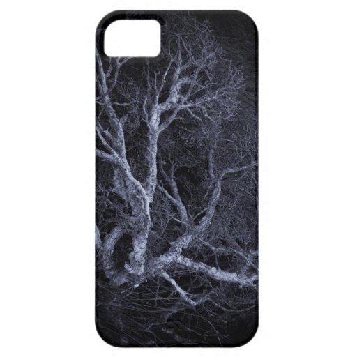 Caja fantasmagórica del teléfono del árbol i iPhone 5 cárcasa