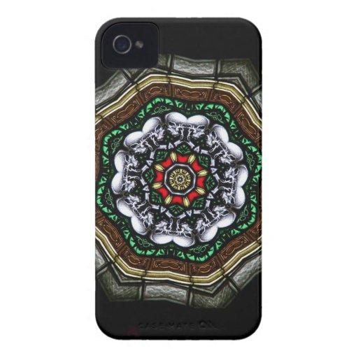 Caja feliz de Blackberry de los cráneos iPhone 4 Carcasas