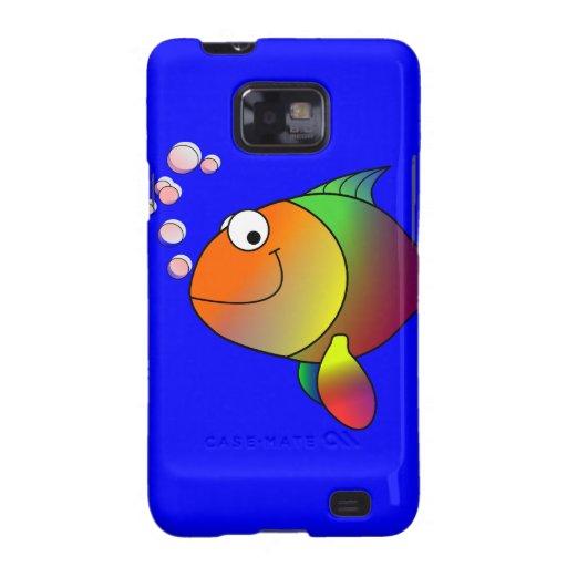 Caja feliz de la galaxia S de Samsung de los pesca Samsung Galaxy SII Fundas