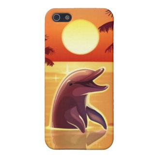 Caja feliz de la mota del iPhone 4 del delfín iPhone 5 Protector