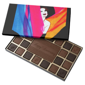 Caja feliz del chocolate del aniversario de las caja de bombones variados con 45 piezas
