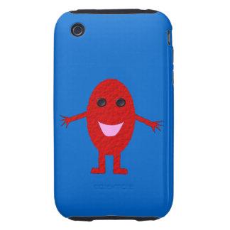 Caja feliz del iPhone 3 de la uva roja Carcasa Though Para iPhone 3