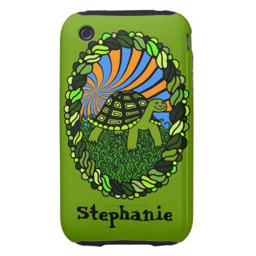 Caja feliz del teléfono de la tortuga tough iPhone 3 cobertura