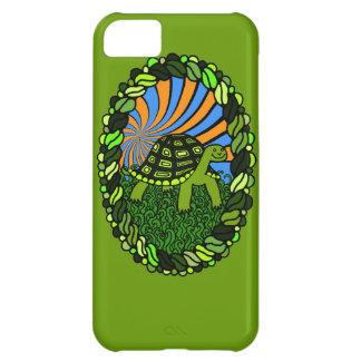 Caja feliz del teléfono de la tortuga funda para iPhone 5C