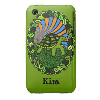 Caja feliz del teléfono de la tortuga funda para iPhone 3