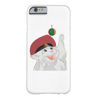 Caja feliz del teléfono del gato funda de iPhone 6 barely there