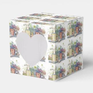 Caja feliz romántica del corazón del saludo del cajas para detalles de boda