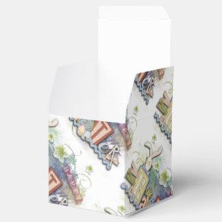 Caja feliz romántica del favor del saludo del caja para regalos de fiestas