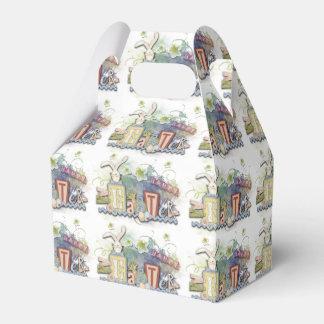 Caja feliz romántica del favor del saludo del cajas para regalos de boda