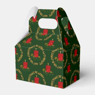 Caja feliz y brillante del favor de la vela de caja para regalos de fiestas