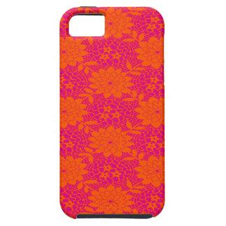 Caja femenina anaranjada rosada del iPhone 5 de iPhone 5 Fundas