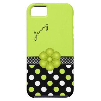 Caja femenina chartreuse y negra del iPhone 5 Funda Para iPhone SE/5/5s