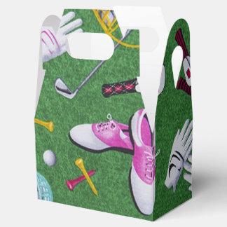 Caja femenina del favor del modelo del golf cajas para regalos de boda