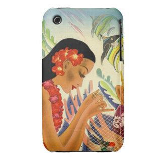 Caja femenina hawaiana del poster iphone3 del Case-Mate iPhone 3 funda