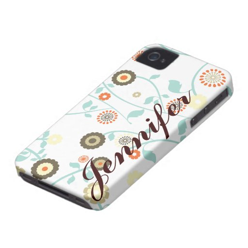 Caja femenina personalizada del ambiente de la flo Case-Mate iPhone 4 coberturas