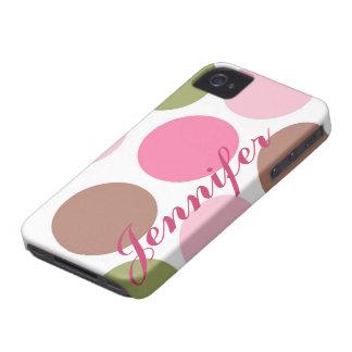 Caja femenina personalizada del ambiente del lunar iPhone 4 cárcasa