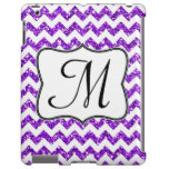 Caja femenina púrpura moderna del monograma IPAD d