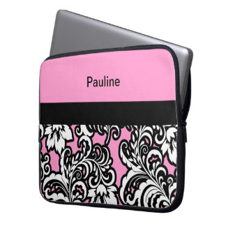 Caja femenina rosada del ordenador portátil del mo fundas portátiles
