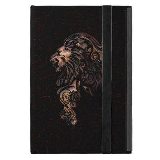 Caja feroz del folio del estilo del libro del león iPad mini protector