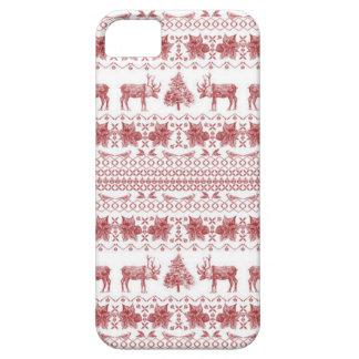 Caja festiva del teléfono del suéter del navidad iPhone 5 Case-Mate protector