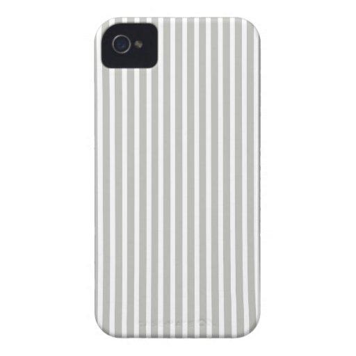Caja fina gris y blanca de Iphone 4/4S de la raya iPhone 4 Carcasa