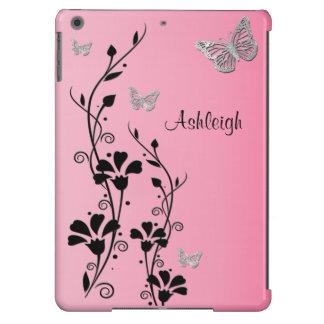 Caja floral 3 del aire del iPad de la mariposa de  Funda Para iPad Air