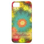 Caja floral abstracta personalizada del iPhone 5 iPhone 5 Case-Mate Funda