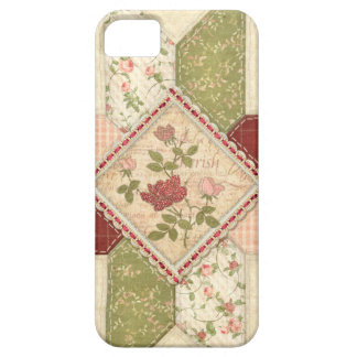Caja floral acolchada vintage del iPhone 2 iPhone 5 Case-Mate Protectores