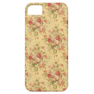 Caja floral amarilla del iPhone 5 del vintage iPhone 5 Carcasas