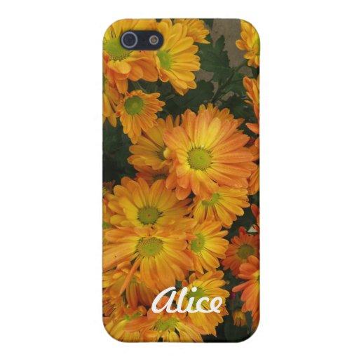 Caja floral amarilla del iPhone 5 iPhone 5 Fundas