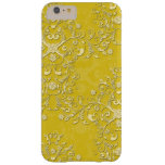 Caja floral amarilla femenina del iPhone 6 del Funda De iPhone 6 Plus Barely There