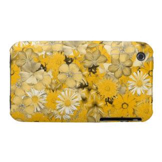 Caja floral amarilla iPhone 3 Case-Mate protectores