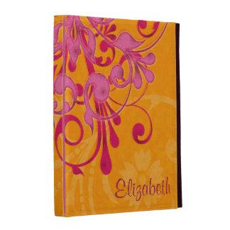Caja floral anaranjada rosada personalizada del fo