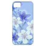 Caja floral azul 5 del iphone del vintage - 5s