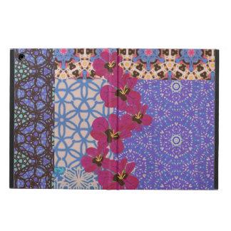Caja floral azul del aire del iPad con la cubierta