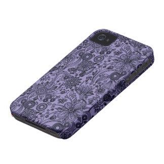 Caja floral azul del compañero del caso del iPhone Case-Mate iPhone 4 Protector