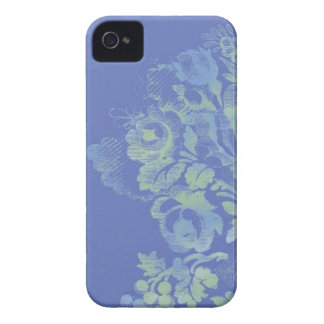 Caja floral azul del iPhone 4/4S iPhone 4 Case-Mate Cárcasa